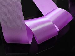 Fialová  stuha atlasová 50mm široká stuha šerpa 5cm fialová