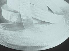 BÍLÝ popruh polypropylénový šíře 10mm PP popruh 1cm, role 50m