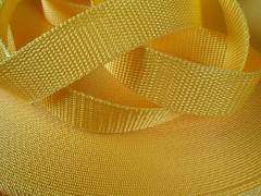 Popruh polypropylénový šíře 10mm ŽLUTÝ, á 1m