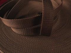 HNĚDÝ popruh polypropylénový šíře 15mm PP popruh 1,5cm