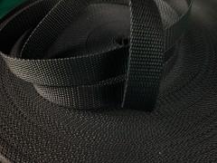ČERNÝ popruh polypropylénový šíře 40mm PP popruh 4cm, á 1m