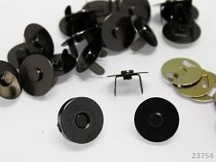 Magnetické zapínání kulaté gunmetal 18mm