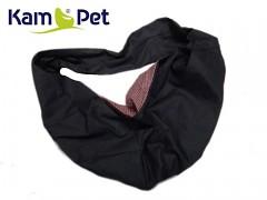 Vak na psa - na nošení psa černý/uvnitř hnědý mini puntík
