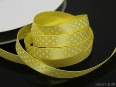 Stuha puntíky 10mm ŽLUTÁ / bílé, svazek 3m