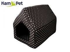 Černá puntíkovaná bouda sedlová pro pejska či kočku KamPet Classic