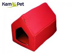 Červená bouda sedlová pro pejska či kočku KamPet Classic