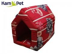 Květovaná bouda sedlová pro pejska či kočku KamPet Classic