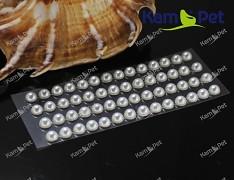 BÍLÉ  samolepící perly 5mm