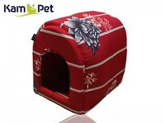 Květovaná bouda kulatá pro pejska či kočku KamPet Classic
