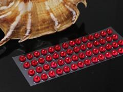 ČERVENÉ  samolepící perly 5mm