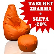 25% SLEVA Sedací vak KamPet Beanbag 125/90 RINS + TABURET ZDARMA