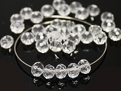 Swarovski korálky 5040 rondelky Crystal čiré, bal. 5ks