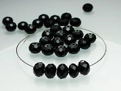 Swarovski korálky 5040 rondelky Yet černé, bal. 5ks