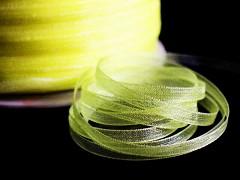 Žlutá stuha organzová 3mm organza stužka šifónová žlutá