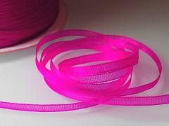 Růžová neon stuha organzová 3mm organza stužka šifónová neonová růžová