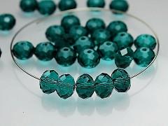 Swarovski korálky 5040 rondelky Emerald, bal. 5ks