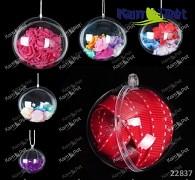 Průhledná baňka koule k dekoraci koule zavěšení, á 1ks