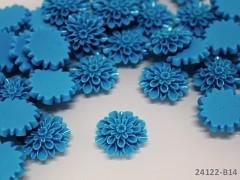 Kabošon chryzantéma 20mm modrý, bal. 2ks