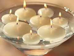 SMETANOVÁ slavnostní svíčka plovoucí 40mm