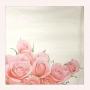 BÍLÉ svatební ubrousky / růže 33x33cm, 1ks
