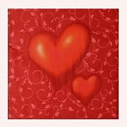 Ubrousky ČERVENÉ srdce  33x33cm, 1ks
