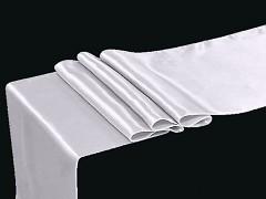 BÍLÝ satén 36cm luxusní lesklá svatební stuha šerpa