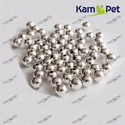 Stříbrné korálky kovové 5mm kovové kuličky
