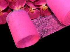 CYKLÁMOVÝ  vlizelín 10cm k dekoraci široká šerpa stuha k aranžmá, á 1m