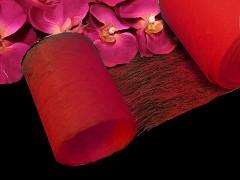 ČERVENÝ  vlizelín 10cm k dekoraci široká šerpa stuha k aranžmá, á 1m