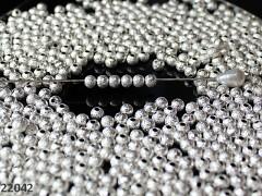 Stříbrné korálky kovové kuličky 6mm, bal. 10ks