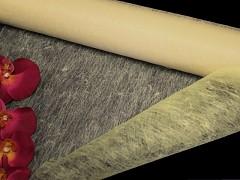 SMETANOVÝ IVORY vlizelín 50cm k dekoraci široká šerpa stuha k aranžmá, á 1m