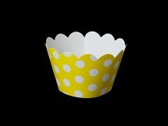 Košíčky na muffiny cupcakes ŽLUTÉ s puntíky
