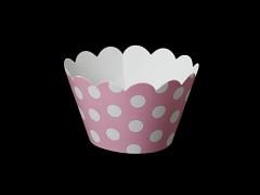 Košíčky na muffiny cupcakes RŮŽOVÉ s puntíky