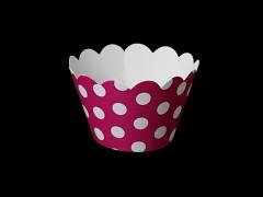 Košíčky na muffiny cupcakes CYKLÁM s puntíky