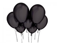 ČERNÝ nafukovací balónek perleťový 27cm extra pevný