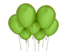 ZELENÝ LIMETKA nafukovací balónek 27cm perleťový extra pevný