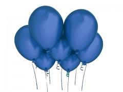 MODRÝ nafukovací balónek 27cm PERLEŤOVÝ extra pevný