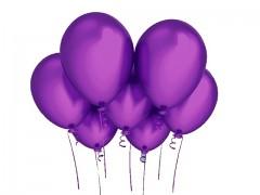TMAVĚ FIALOVÝ nafukovací balónek 27cm PERLEŤOVÝ extra pevný
