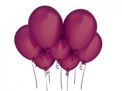 BORDÓ nafukovací balónek 27cm PERLEŤOVÝ extra pevný