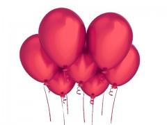 ČERVENÝ nafukovací balónek 27cm PERLEŤOVÝ extra pevný