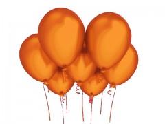 ORANŽOVÝ nafukovací balónek  27cm PERLEŤOVÝ extra pevný