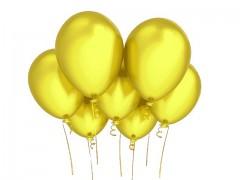 ŽLUTÝ  nafukovací balónek 27cm PERLEŤOVÝ extra pevný