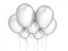 BÍLÝ Nafukovací balónek  27cm PERLEŤOVÝ extra pevný