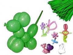ZELENÉ JABLKO Italské modelovací balónky extra dlouhé , 1ks