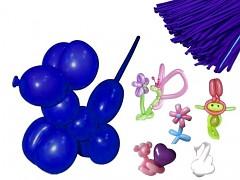 NIVEA MODRÉ Italské modelovací balónky extra dlouhé  1ks