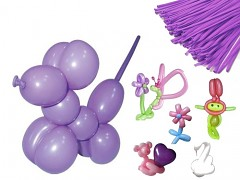 FIALOVÉ  Italské modelovací balónky extra dlouhé  1ks