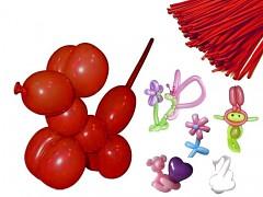 ČERVENÉ Italské modelovací balónky extra dlouhé  1ks
