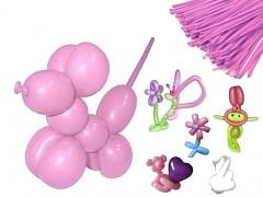 RŮŽOVÉ Italské modelovací balónky extra dlouhé  1ks