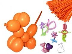ORANŽOVÉ Italské modelovací balónky extra dlouhé  1ks