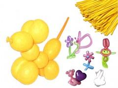 ŽLUTÉ Italské modelovací balónky extra dlouhé  1ks